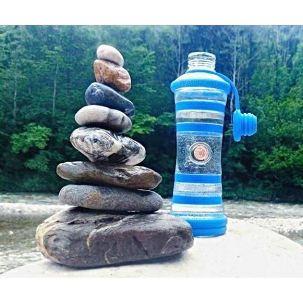 i9 informovaná fľaša - Modrá